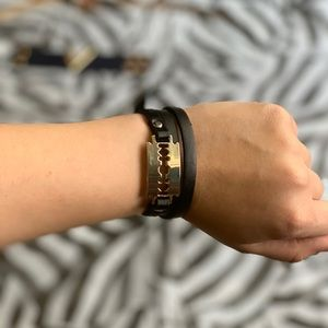 Other - Double wrap razor bracelet black 🖤